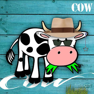 Cow Mixed Media - Cool Cow Collection by Marvin Blaine