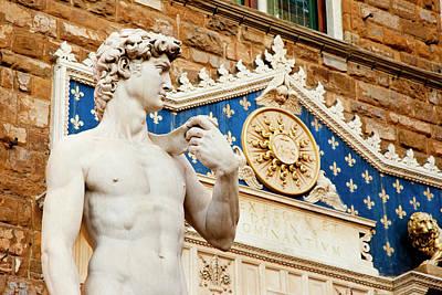Copy Of Michelangelo's David Sculpture Print by Brian Jannsen