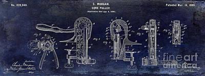 Cork Puller Patent 1899 Print by Jon Neidert
