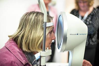 Optometry Photograph - Corneal Topography Demonstration by Dan Dunkley