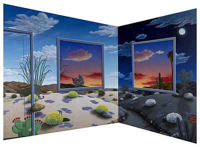 Landscape Painting - Corner View by Snake Jagger