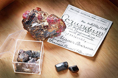 Hematite Photograph - Corundum by Natural History Museum, London