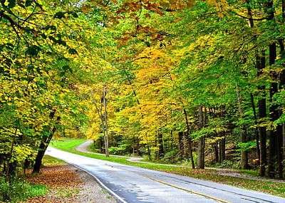 Country Road Print by Frozen in Time Fine Art Photography