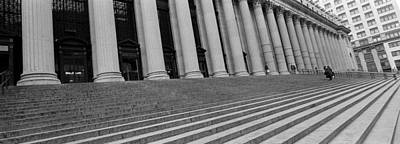Oblique Photograph - Courthouse Steps, Nyc, New York City by Panoramic Images