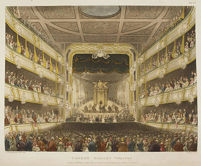 Microcosm Photograph - Covent Garden Theatre by British Library