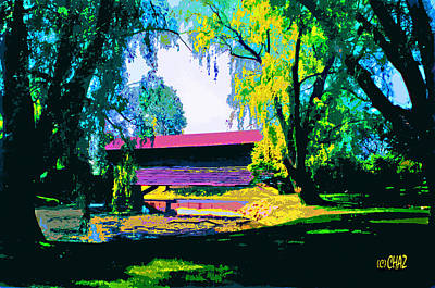 Covered Bridge Painting - Covered Bridge by CHAZ Daugherty