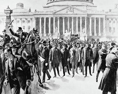 Washington D.c Drawing - Coxey's Army, 1894 by Granger