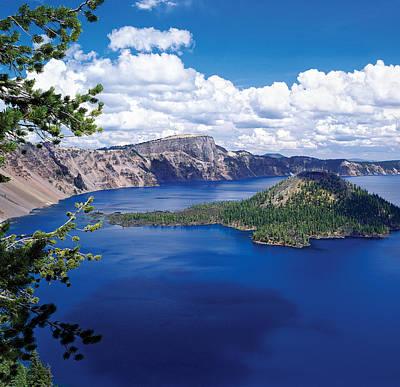 Crater Lake At Crater Lake National Print by Panoramic Images