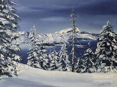 Dlgerring Painting - Crater Lake by D L Gerring