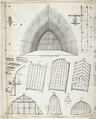 Etc. Photograph - Cross Sections Of Greenhouses by British Library