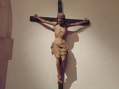 Crucifiction Sculpture Print by Dotti Hannum