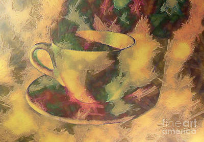 Scoop Painting - Cup Of Coffee by Odon Czintos