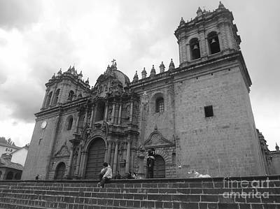 Architectural Photograph - Cusco Cathedral by Fernanda Travensolli