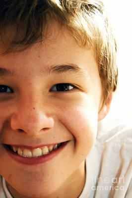 Cute Boy Print by Michal Bednarek