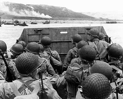 Omaha Photograph - D-day Landings by Us Army