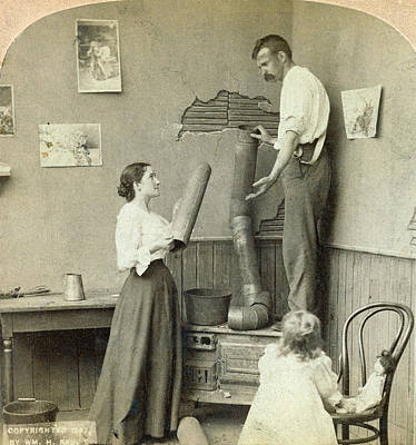 Of Toddlers Painting - Daily Life Chores, C1897 by Granger