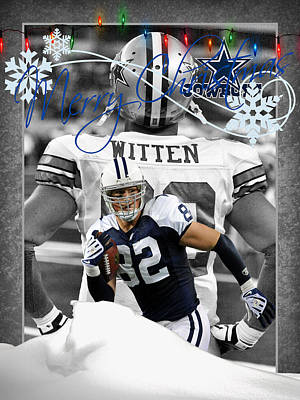 Witten Photograph - Dallas Cowboys Christmas Card by Joe Hamilton