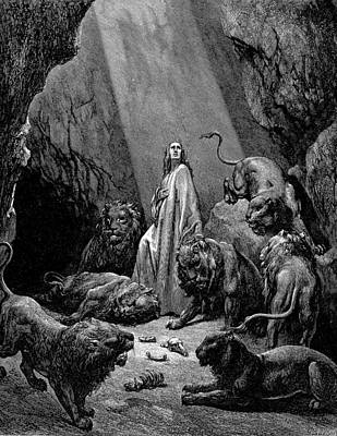 Detail Painting - Daniel In The Den Of Lions by Celestial Images