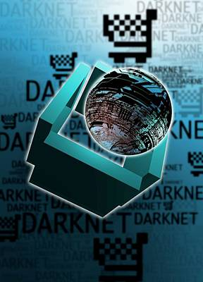 Net Photograph - Dark Net by Victor Habbick Visions