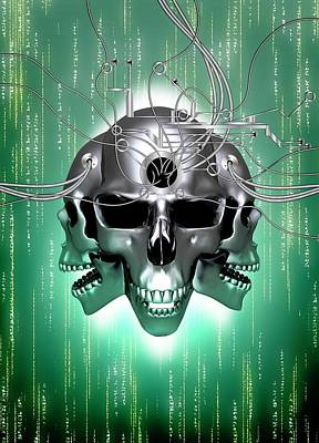 Data Hacking Print by Victor Habbick Visions