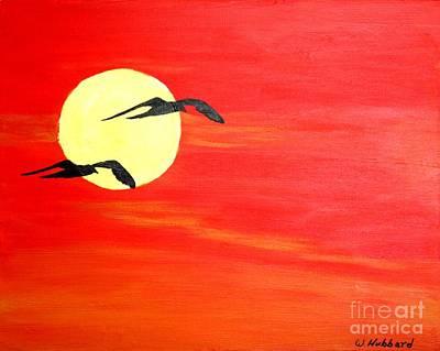 Osprey Drawing - Dawn Patrol by Bill Hubbard