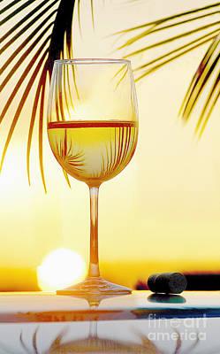 Wine Barrel Mixed Media - Day At The Beach by Jon Neidert