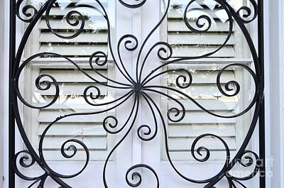 Grill Gate Photograph - Decorative Wrought Iron 4 by Allen Beatty