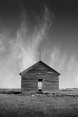 Defunct Country School Building - Rural North Dakota Print by Donald  Erickson