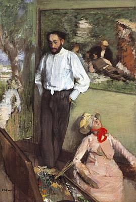 Of Edgar Degas Photograph - Degas, Edgar 1834-1917. Portrait by Everett
