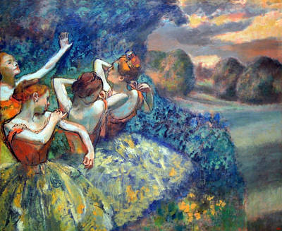 Of Edgar Degas Photograph - Degas' Four Dancers by Cora Wandel