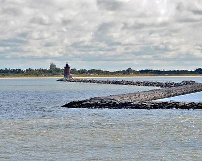 Beach Photograph - Delaware Breakwater East End Lighthouse by Kim Bemis