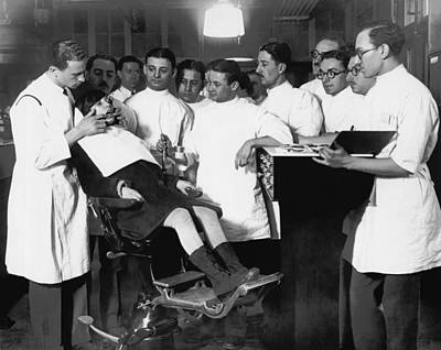 Dental Photograph - Demonstrating Orthodontia by Underwood Archives
