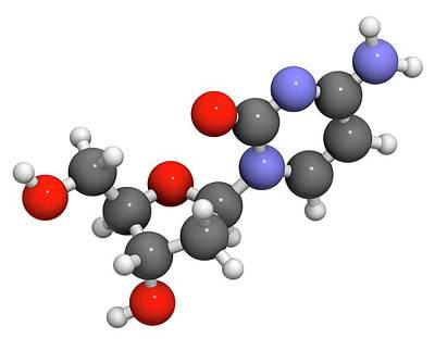 Deoxycytidine Nucleoside Molecule Print by Molekuul