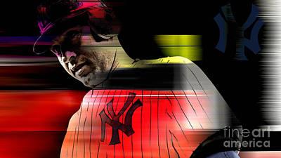 Derek Jeter Mixed Media - Derek Jeter by Marvin Blaine