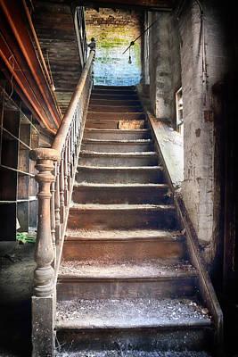 Derelict Stairway Print by Russ Dixon