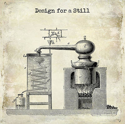 Stamps Drawing - Design For A Still by Jon Neidert
