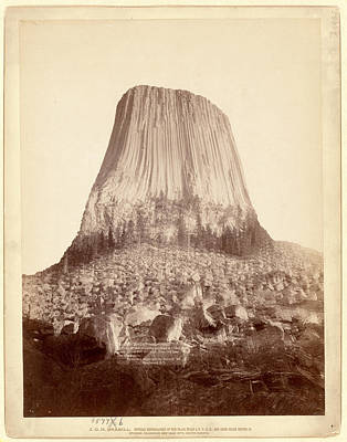 Tons Of Photograph - Devils Tower. From West Side Showing Millions Of Tons by Litz Collection