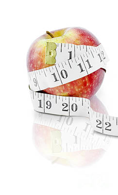 Diet And Weight Loss Concept On White Background Print by Jorgo Photography - Wall Art Gallery