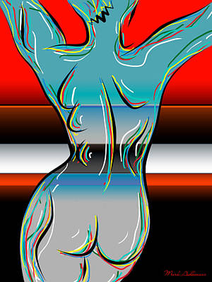 Digital Nude  Print by Mark Ashkenazi