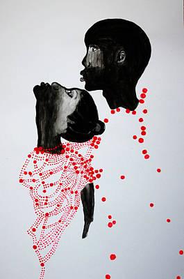 Dinka Wedding Painting - Dinka Marriage - South Sudan by Gloria Ssali