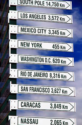 Directional Signage Photograph - Direction Signs by Valentino Visentini