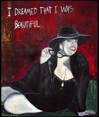 Heavy Woman Painting - Disowned Self-portrait by Darlene Graeser