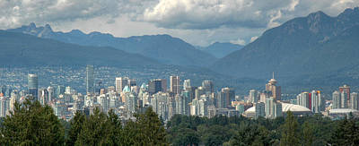 Aerial Photograph - Distant View Of Vancouver British Columbia. by Rob Huntley