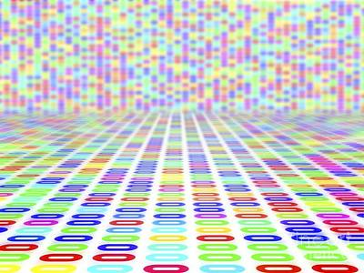 Dna Sequence, Abstract Artwork Print by Pasieka