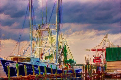 Digital Photograph - Docked And Waiting by Barry Jones