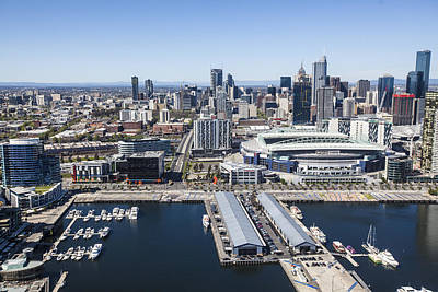 Photograph - Docklands And Etihad Stadium, Melbourne by Brett Price