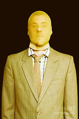 Dodgy Business Person In Stocking Mask Print by Jorgo Photography - Wall Art Gallery