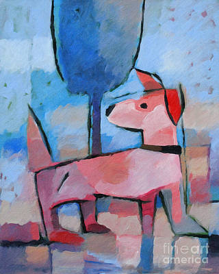 Abstract Dog Painting - Doggy by Lutz Baar