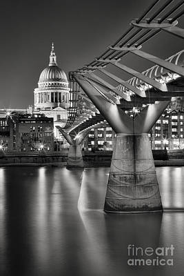Illuminated Photograph - Dome And Bridge by Rod McLean