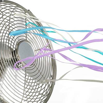 Domestic Fan Showing Air Movement Print by Science Photo Library